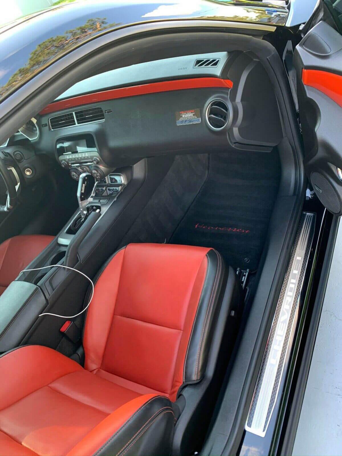 Chevy Camaro SS orange interior