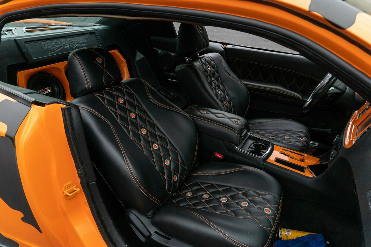 Dodge cvharger custom interior